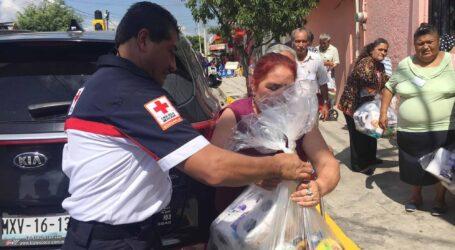 Capacita Cruz Roja en paquetes de ayuda alimentaria en casos de desastres