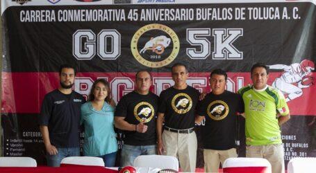 Festeja Búfalos Toluca 45 años con carrera atlética