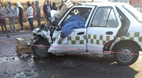 +Ozuna y la mujer; accidente, 3 muertos, participa taxi colectivo