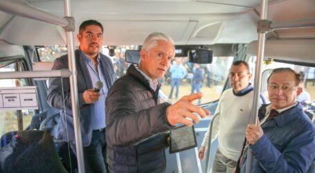 81 UNIDADES DE TRANSPORTE DE VALLE DE MEXICO CON CAMARAS Y BOTONES DE PANICO