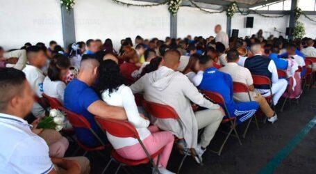 192 MATRIMONIOS, 37 REGISTROS DE MENORES Y 28 RECONOCIMIENTOS, EN EL PENAL DE BARRIENTOS