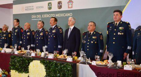 RECONOCE DEL MAZO COMPROMISO DEL EJÉRCITO MEXICANO