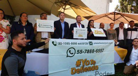 """""""Yo te defiendo"""" asesoría del PRD a familias con desabasto de medicinas"""
