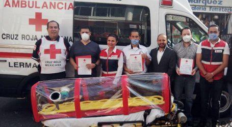 Dona XE Médica a Cruz Roja cápsula para traslado de pacientes de COVID-19