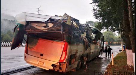 Accidente en la México-Toluca, causó dos muertos y 6 heridos