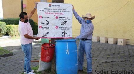 EN METEPEC INSTALAN BOTES DE COMPOSTEO PARA HECES DE MASCOTAS