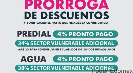 VIGENTES EN METEPEC LOS DESCUENTOS EN PREDIAL Y AGUA