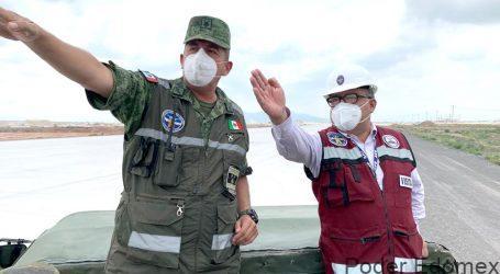 Supervisa Horacio Duarte instalaciones aduaneras en el nuevo Aeropuerto de Santa Lucía