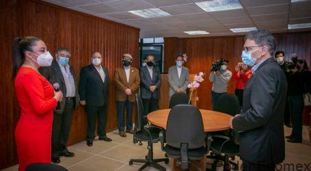 Alfredo Barrera inauguró el Centro de Paz y Diálogo de la UAEM