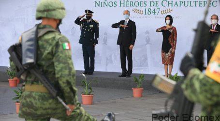 ENCABEZA ALFREDO DEL MAZO CEREMONIA CONMEMORATIVA DEL SACRIFICIO DE LOS NIÑOS HÉROES DE CHAPULTEPEC