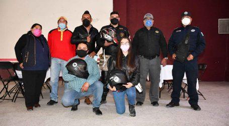 En Otzolotepec, rodada motociclista por el uso responsable del casco