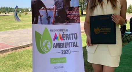Egresada UAEM obtuvo Reconocimiento al Mérito Ambiental 2020 del GEM
