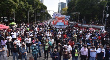 MANIFESTACION DE TAXISTAS EXIGEN SE APLIQUE LA REGULACIÓN; LEVANTARON PARO EN DOS FRENTES