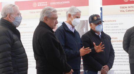 """El tren interurbano México-Toluca y el Aeropuerto """"Felipe Angeles"""", obras que traerán desarrollo y bienestar al Edomex: Alfredo del Mazo"""