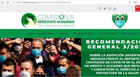 Quince ayuntamientos mexiquenses han aceptado la Recomendación 3/2020