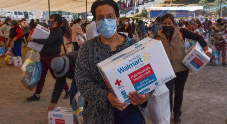 Apoya Cruz Roja Mexicana a 350 familias en El Hielo, Huixquilucan