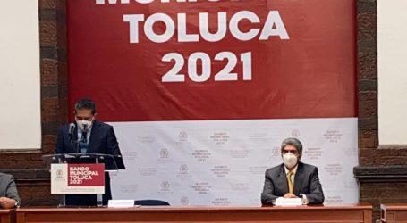 ASISTE ERNESTO NEMER ÁLVAREZ, SECRETARIO GENERAL DE GOBIERNO, A LA DEVELACIÓN DEL BANDO MUNICIPAL DE TOLUCA 2021