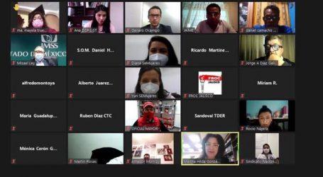 IMPULSA SECRETARÍA DEL TRABAJO VIDEOCONFERENCIAS EN BENEFICIO DE SINDICATOS MEXIQUENSES