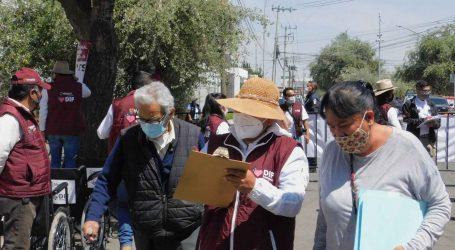 VECINOS DE OTROS MUNICIPIOS ACUDIERON A VACUNARSE EN METEPEC