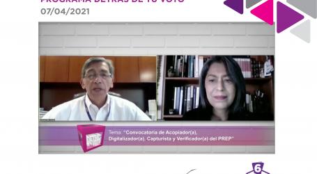 OPERADORES DEL PREP DARÁN CERTIDUMBRE A LA CIUDADANÍA DE LA JORNADA ELECTORAL: IEEM