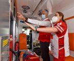 Recibe Cruz Roja dos nuevas ambulancias