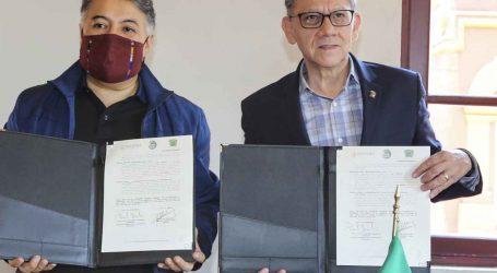 Alfredo Barrera firmó convenio con director de Fonoteca Nacional