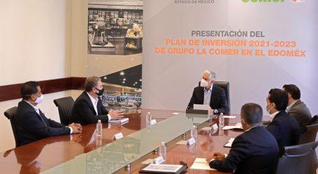 PRESENTAN PLAN DE INVERSIÓN 2021-2023 DEL GRUPO LA COMER PARA EL EDOMÉX