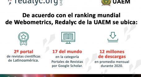 Redalyc de la UAEM, segundo portal de revistas científicas de Latinoamérica