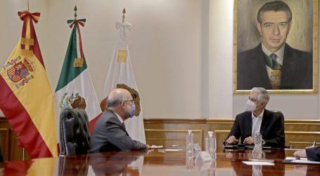 RECIBE DEL MAZO A EMBAJADOR DE ESPAÑA EN MÉXICO PARA FORTALECER RELACIONES DE AMISTAD